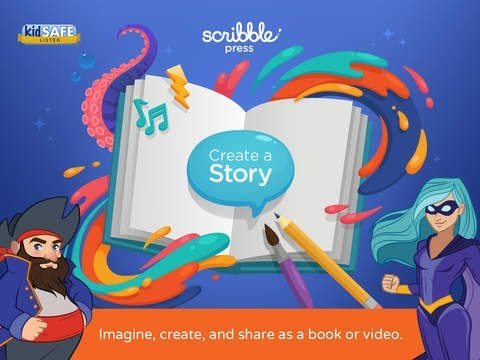 Scribble Press - Creative Book Maker for Kids - Best iPad app demo for kids - Ellie