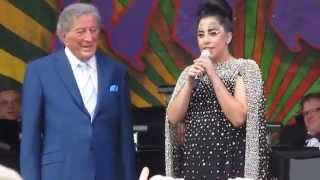 "Lady Gaga and Tony Bennett - ""Nature Boy"" - 2015 New Orleans Jazz Fest"