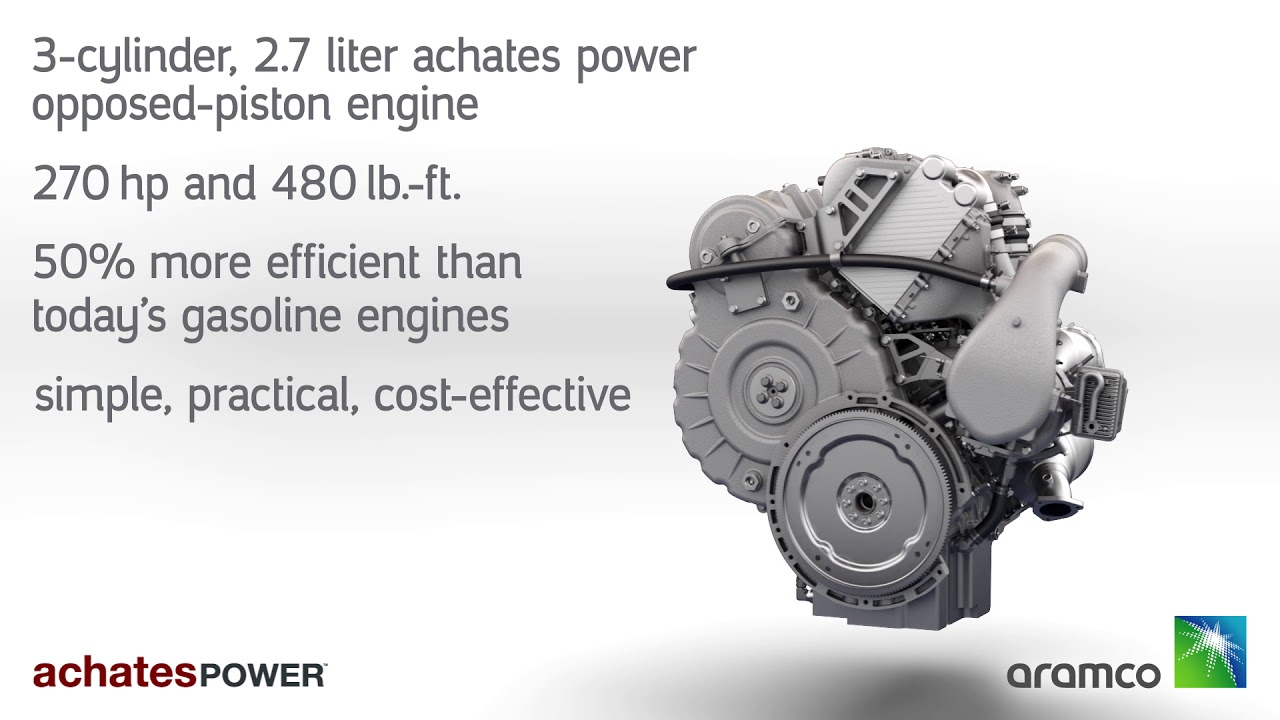 Achates showcases 2 7L, 3-cylinder opposed piston gasoline