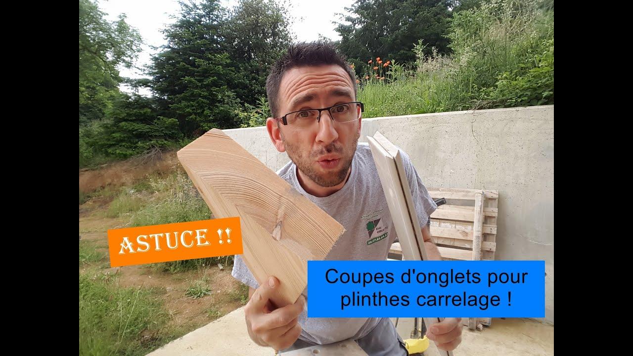 Comment Fabriquer Des Plinthes En Bois comment faire une coupe d'onglet de plinthe carrelage. astuce !