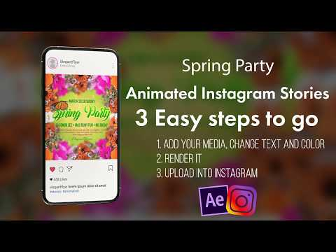 Spring Party After Effects Template