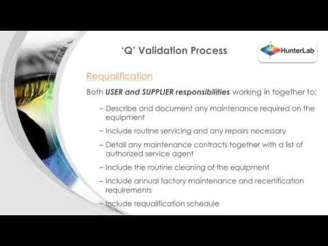 IQ / OQ / PQ For Color Instrumentation