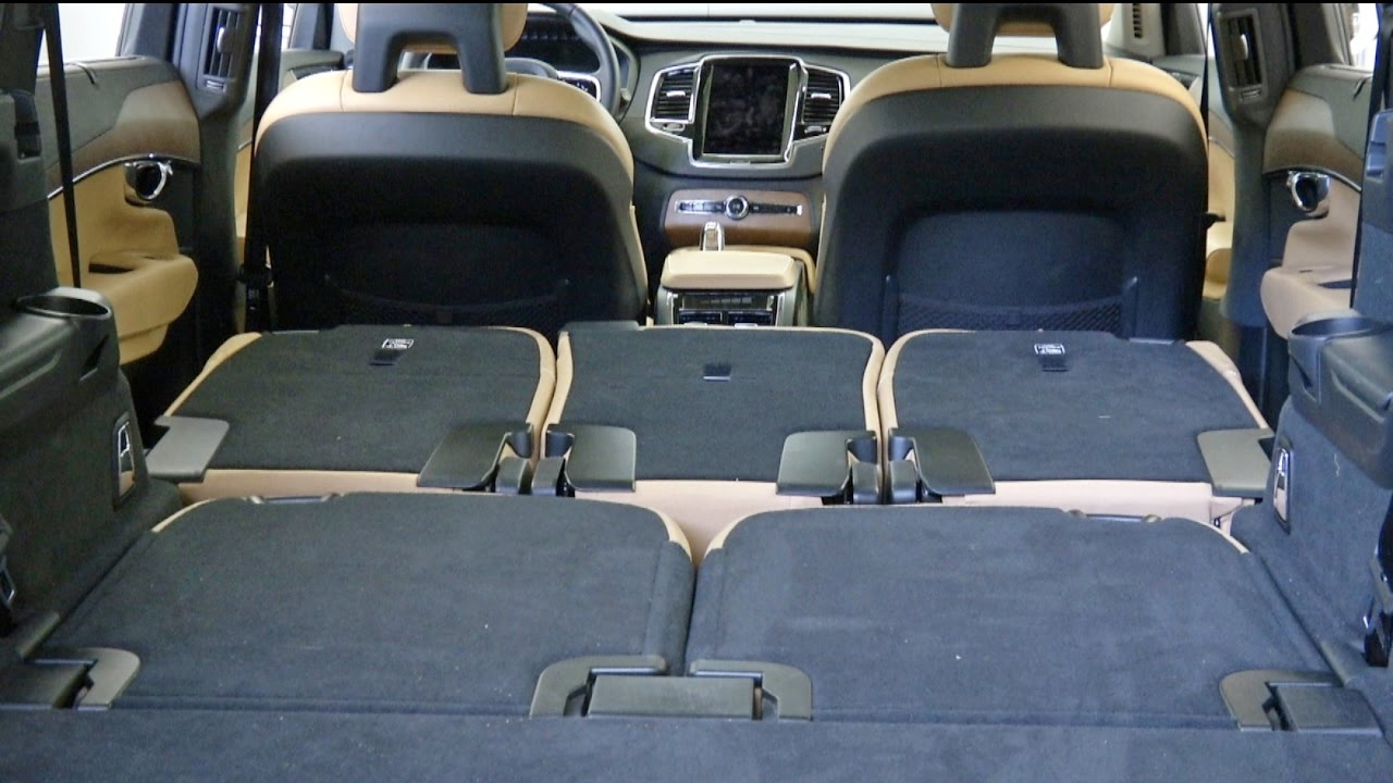 2015 volvo xc90 how to fold the seats youtube. Black Bedroom Furniture Sets. Home Design Ideas