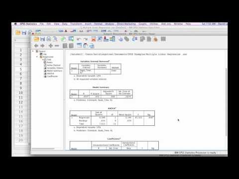 How to Calculate Multiple Linear Regression with SPSS