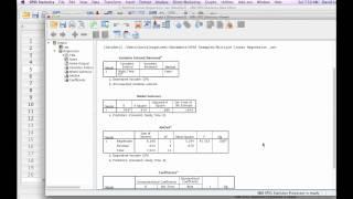 كيفية حساب الانحدار الخطي المتعدد مع SPSS