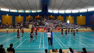 2016 C Div Girls National FInal DMN vs NYG 2-0 1st set Pt 1/2