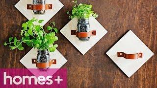 Diy Project: Mason-jar Kitchen Garden - Homes+