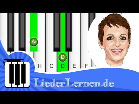 Nena - Liebe ist - Klavier lernen - Musiknoten - Akkorde