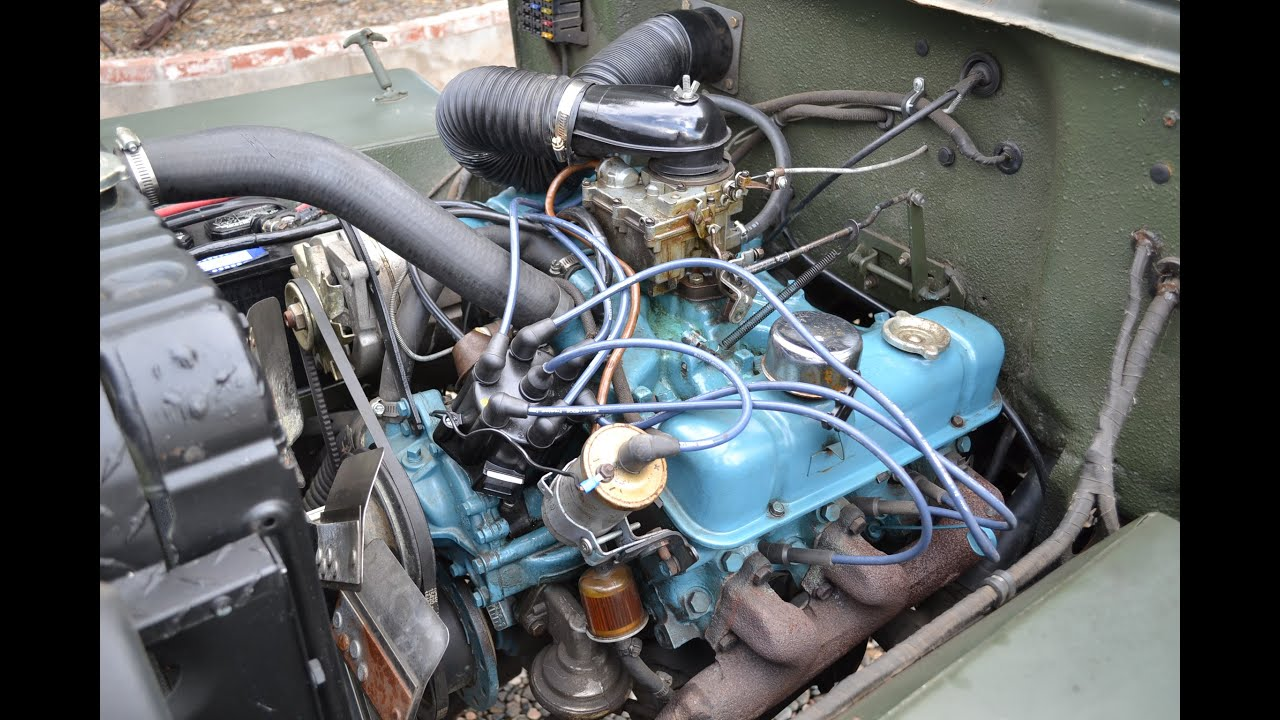1954 Willys High Hood Resto 4x4 Classic Flat Fender V6