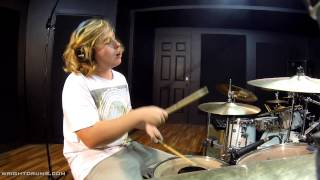Wright Drum School - Ethan Reynolds - Green Day Warning Drum Cover