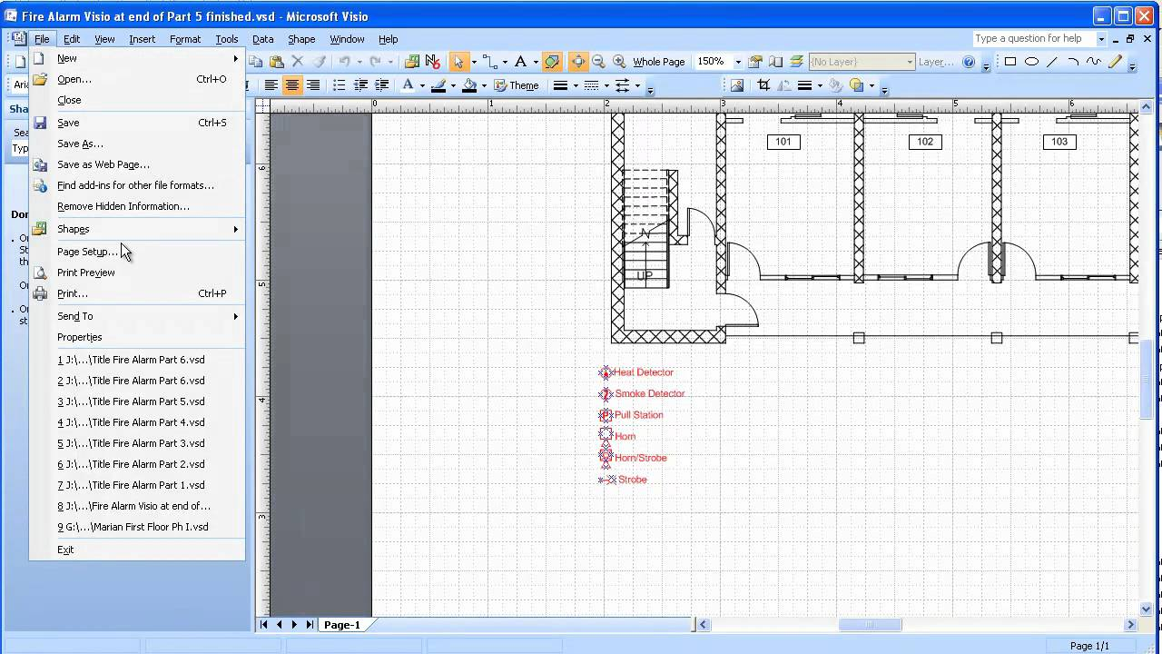 Visio 20032007 Electrical Systems Drawing Part 6 Placing And
