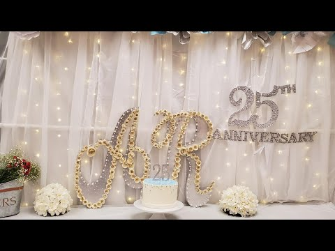 Wedding Anniversary Party Decoration Ideas At Home 25th