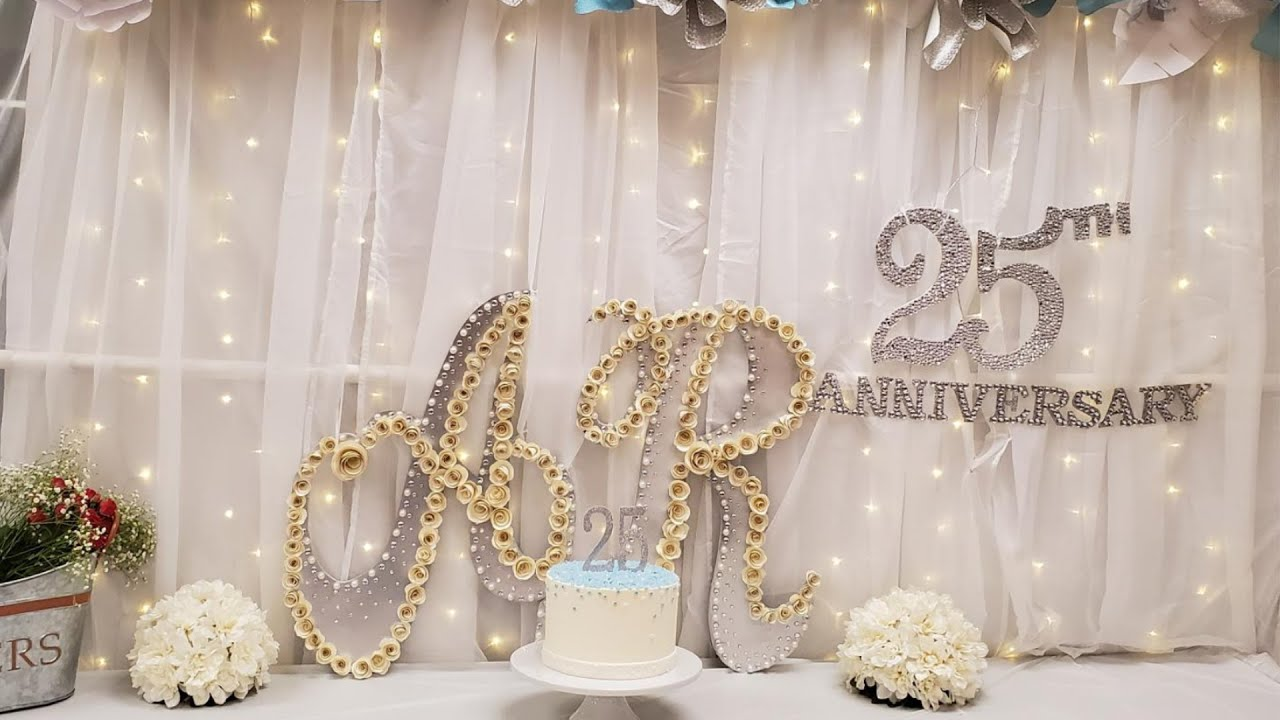 Wedding Anniversary Party Decoration Ideas At Home 25th Anniversary Decoration Easy Youtube