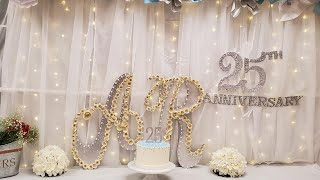 Wedding Anniversary party Decoration  Ideas at home /25th Anniversary Decoration easy