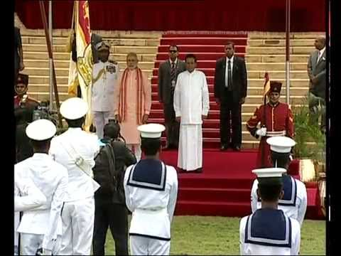 PM Modi's ceremonial welcome in Colombo | PMO