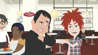 Animated No Agenda - Noodle Guns Firing!