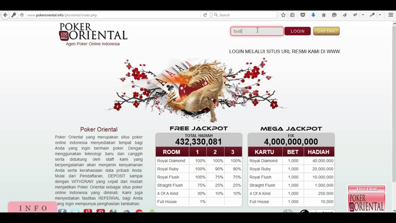 Cara ubah password pokeroriental - YouTube