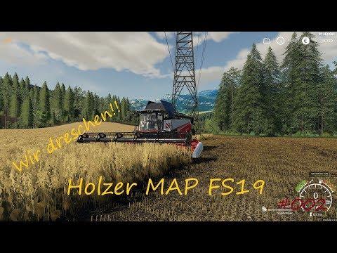 #Let´s Play# LS 19# Holzer Map#Track IR# Wir Dreschen#002#
