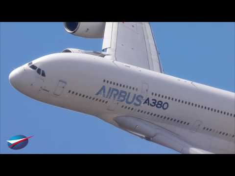 25 Juin - Vol de l'A380 au Salon du Bourget 2017