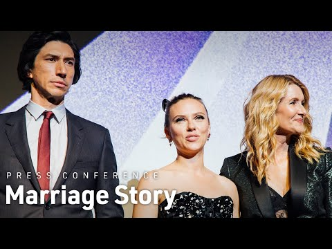 'Marriage Story': Scarlett Johansson on the scene that hooked her, Adam Driver on the scenes that scared him [WATCH]