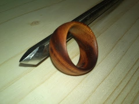 Woodturning [part 2 of 3] turning jewelery, ring [HD]