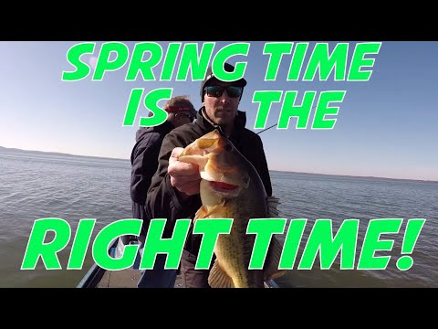 Early Spring Bass Fishing On The Chesapeake Bay!  They Are Starting To Bite!