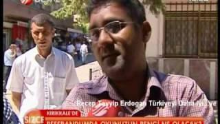 Halk-Recep Tayyip Erdogan Referandum Evet MI? Hayir MI? Kirikkale-Türküola Minareci-Beyaz Tv-4