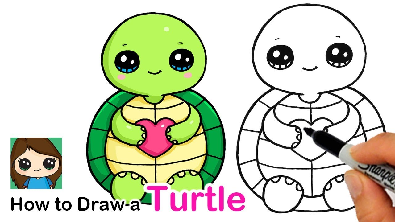 How To Draw A Baby Turtle Easy Squishmallows Youtube