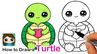 How to Draw a Baby Turtle Easy | Squishmallows