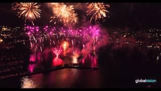 Fêtes de Genève 2015 - Grand Feu d'Artifice filmé par un drone