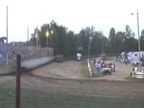 Haley Arnold heat race wreck at Double X Speedway