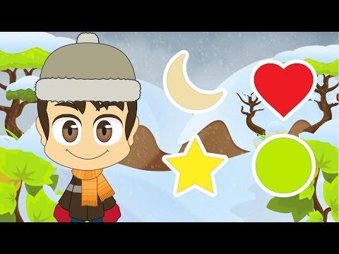 Learn Shapes in French for Kids - تعليم الأشكال للاطفال باللغة الفرنسية