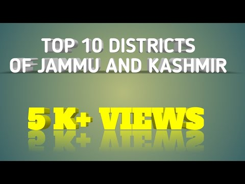Top 10 districts of jammu and kashmir