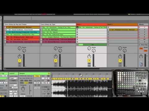 Ableton Live: Learn 2 Live: My simple DJ setup (using an APC40)
