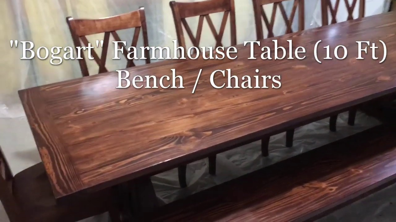 Bogart 10 Ft Farmhouse Table Bench Madison Chairs Youtube