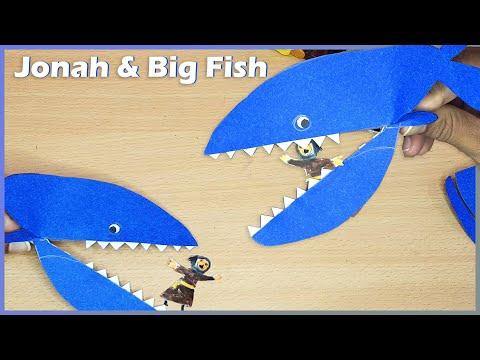 Jonah And The Big Fish   Paper Craft   Bible Craft   Sunday School Activity   VBS Craft Activity