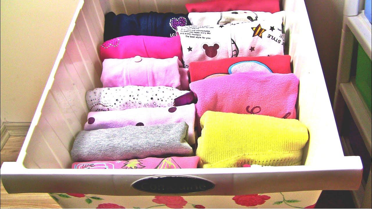 Image result for أفكار جميلة لترتيب ملابس الأطفال في الخزانة: