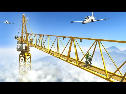 CRANE vs. PLANE! (GTA 5 Funny Moments)