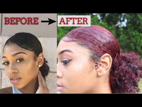 How to Dye Natural Black Hair without Bleach !