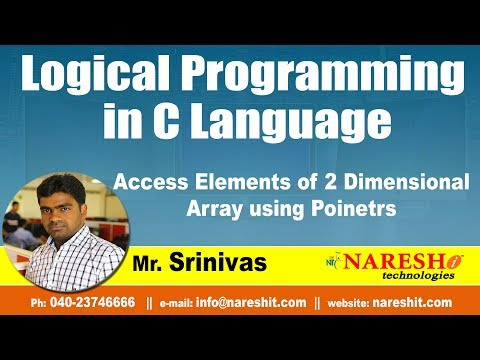 access-elements-of-2-dimensional-array-using-poinetrs-|-logical-programming-in-c-|-by-mr.srinivas
