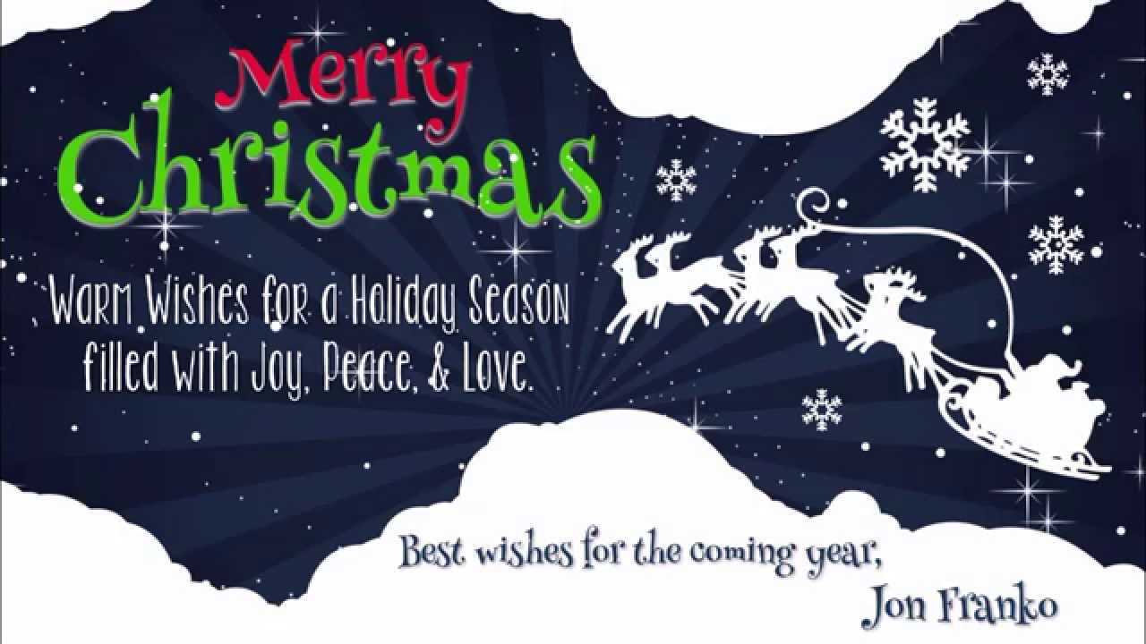 Christmas Card 2014 Jon Franko Real Estate Youtube