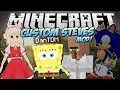 Minecraft CUSTOM STEVES MOD Become ANY 3D Game Character Mod Showcase mp3