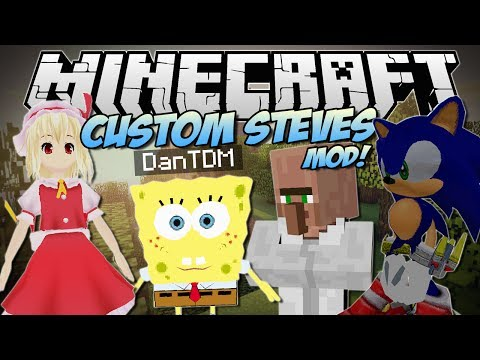 Minecraft | CUSTOM STEVES MOD! (Become ANY 3D Game Character!) | Mod Showcase