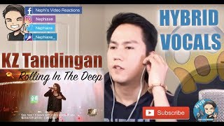 KZ Tandingan - Rolling in the Deep (The Singer 2018) | REACTION