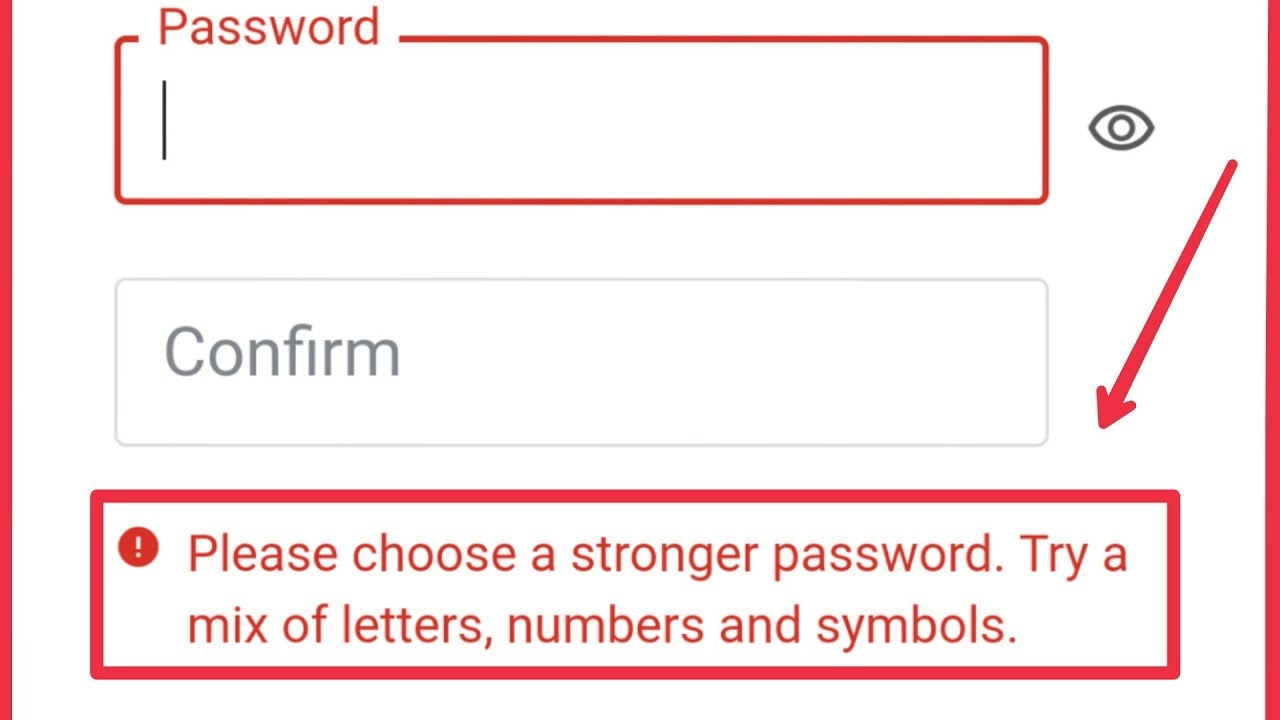 Download Google & Play Store Account | Fix Choose a Stronger Password. Try A Mix of Letters, Number & Symbols