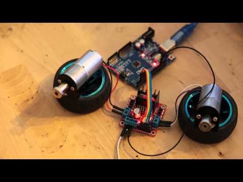 Arduino Uno + L298n + 25mm моторы с передачами