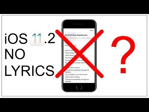 iOS 11.2 No More Lyrics ????