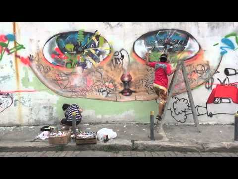 Herbert Baglione and David Choe in Brazil