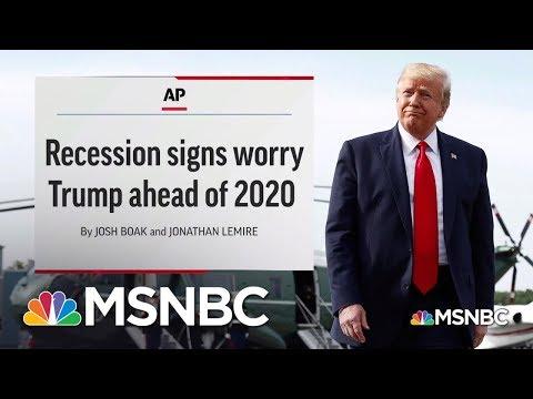 Rattled? President Trump Reacts To Worrisome Economic News | MSNBC