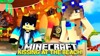 Minecraft Little Carly-KISSING BOYS ON THE BEACH!! | Little Carly Minecraft